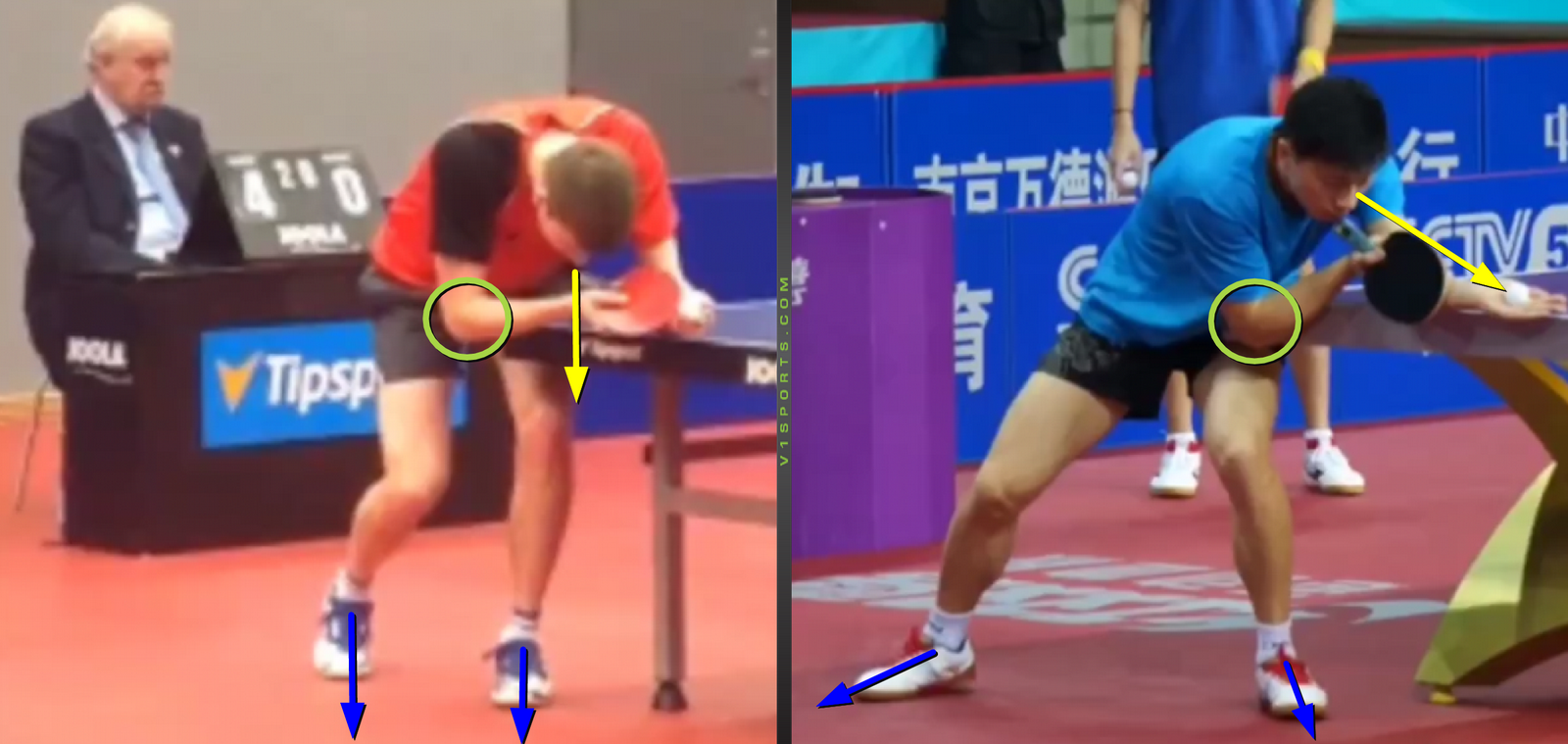 Serve Analysis, Basic Position – D. Reitšpies vs Ma Long
