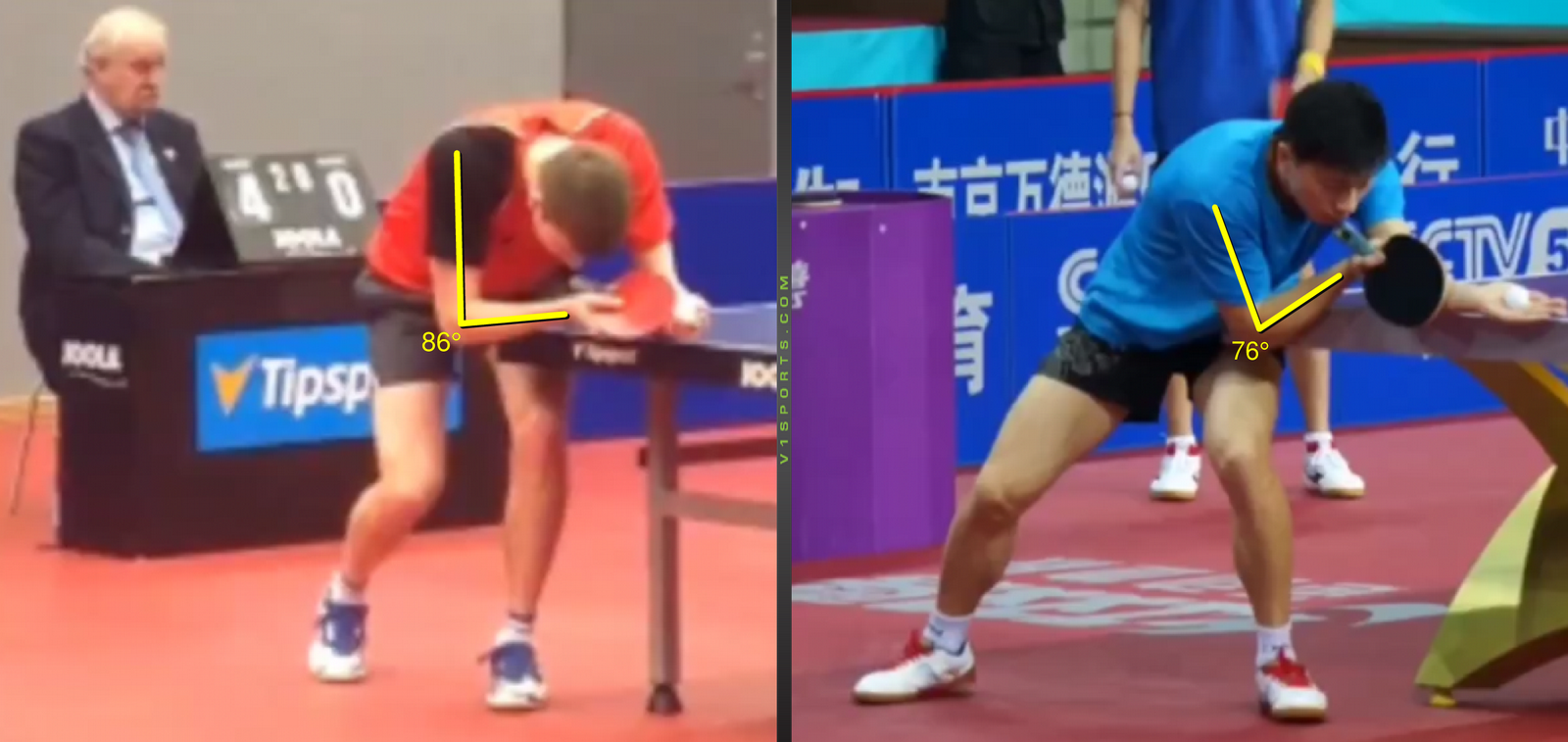 Serve Analysis, Basic Position, Playing Hand Position – D. Reitšpies vs Ma Long